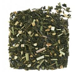 緑茶にレモンとジンジャーを加えました。さっぱりした口当たりと高貴な味わい