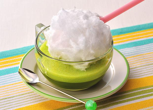 ふわふわ綿菓子のウェルネス抹茶
