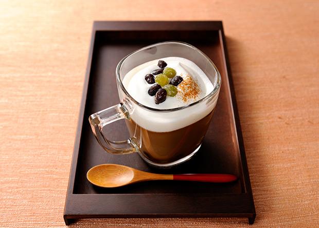 【レシピ】バリスタで作る ブライトdeデザートラテ 和風甘納豆