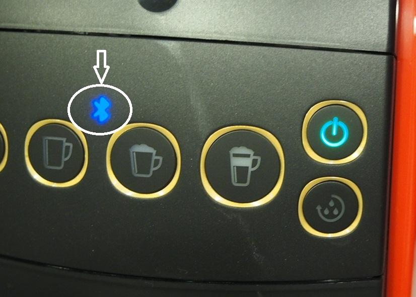 源がONの状態でBluetooth 接続表示が点灯していることを確認する