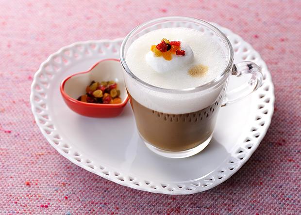 【レシピ】バリスタで作る ブライトdeフルーツキャラメルラテ