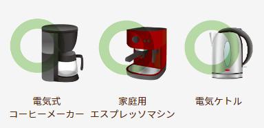 他社の電気式コーヒーメーカー 他社の家庭用エスプレッソマシン 電気ケトル
