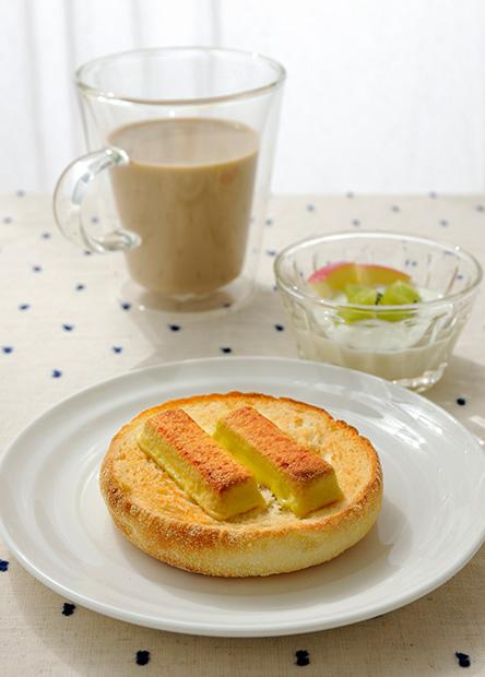 【レシピ】焼きキットカットのシンプルオープンサンド(焼いておいしいスイートポテト味使用)