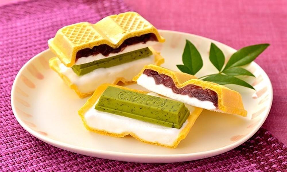 【レシピ】キットカット 抹茶 まるごと茶葉のアイス最中