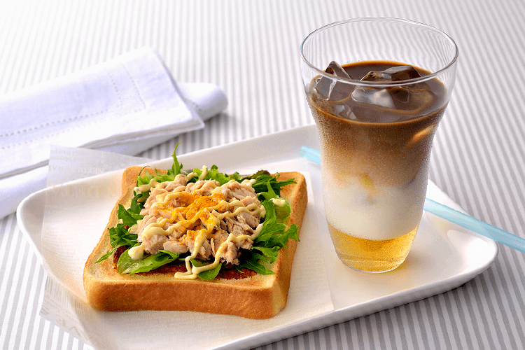 【レシピ】簡単!カフェ風朝食レシピ♪ネスカフェ×パスコで「ハニージンジャーラテ×カレー風味のツナサンド」