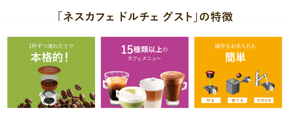 ネスカフェのコーヒーマシン「ドルチェグスト」を使ってみよう